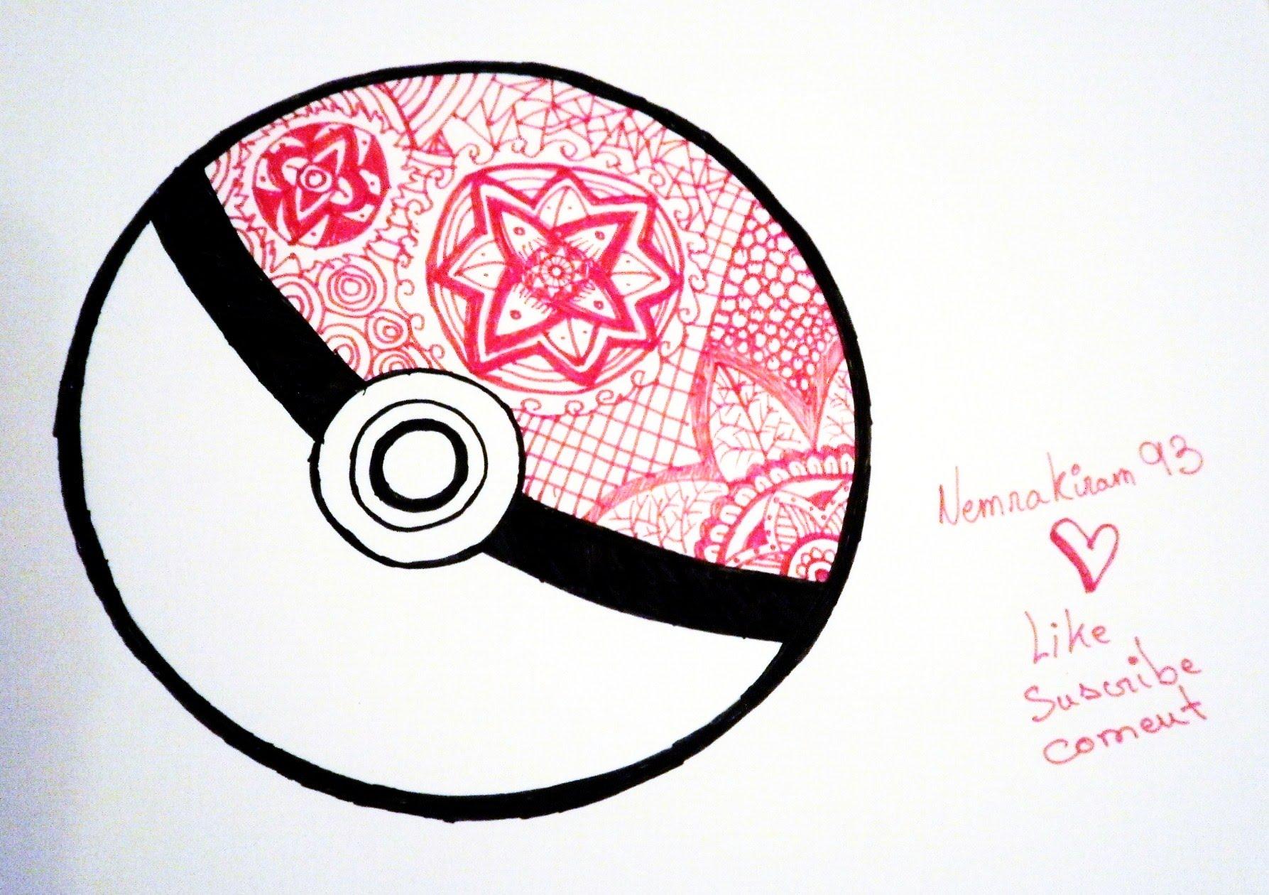 Drawn pokeball doodle YouTube Pokeball Pokeball Doodle Doodle