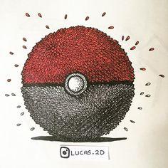 Drawn pokeball doodle #draw www #sketchbook lucas2d #