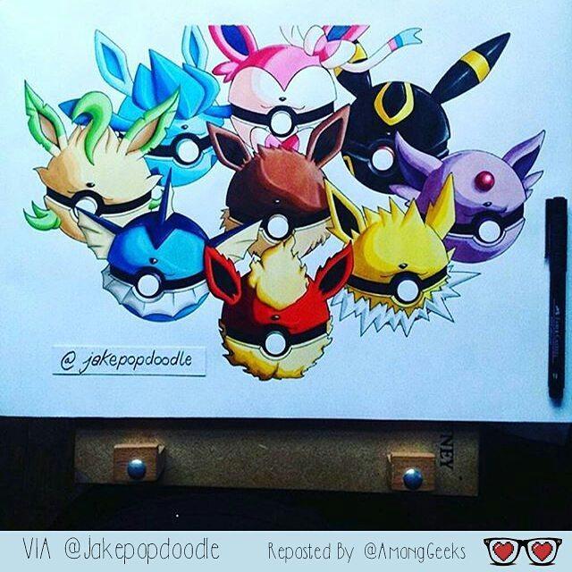 Drawn pokeball doodle # #PokemonGo #Pokeballs #PokemonGo #Pokemon