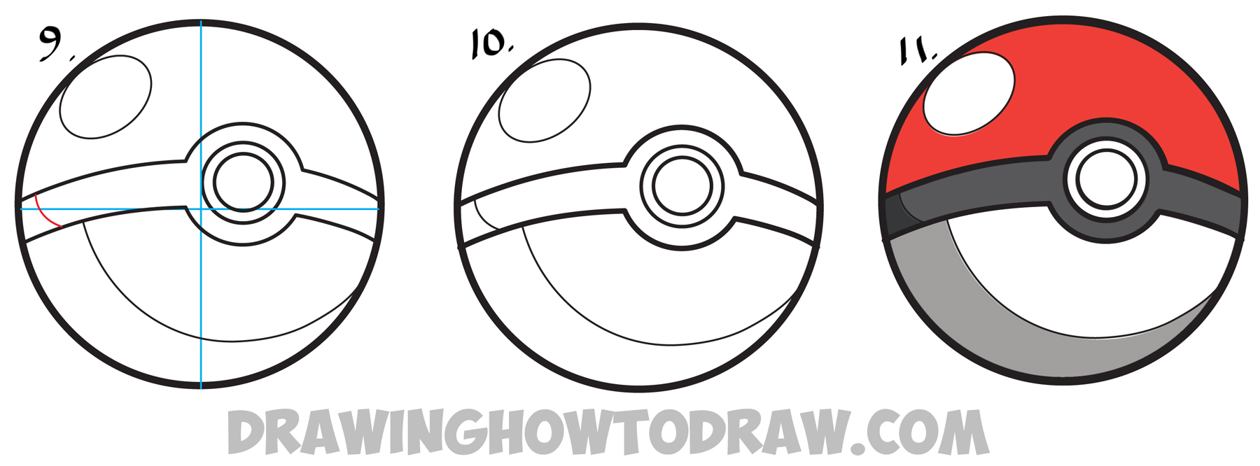 Drawn pokeball drawing Pokemon from Lesson Easy Drawing