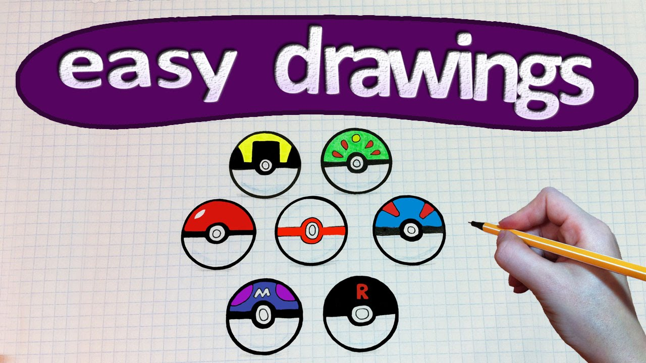 Drawn pokeball drawing Pokeball a Easy / GO