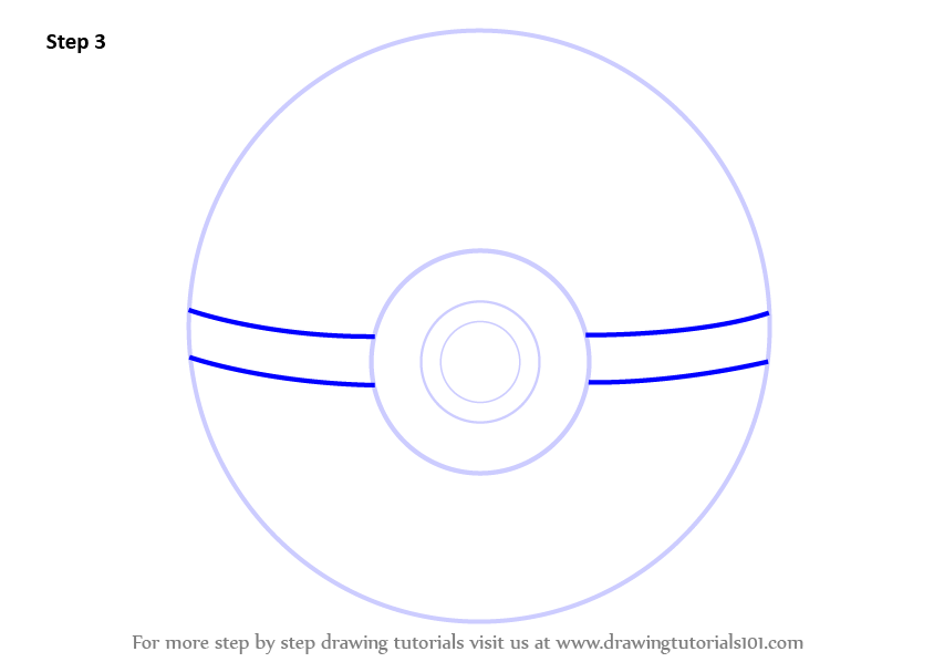 Drawn pokeball drawing How  from Pokeball lines