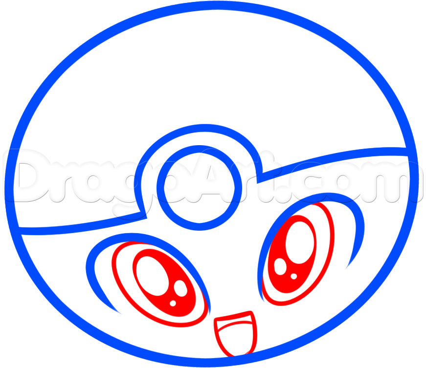 Drawn pokeball line drawing By Draw Pokeball Added Chibi