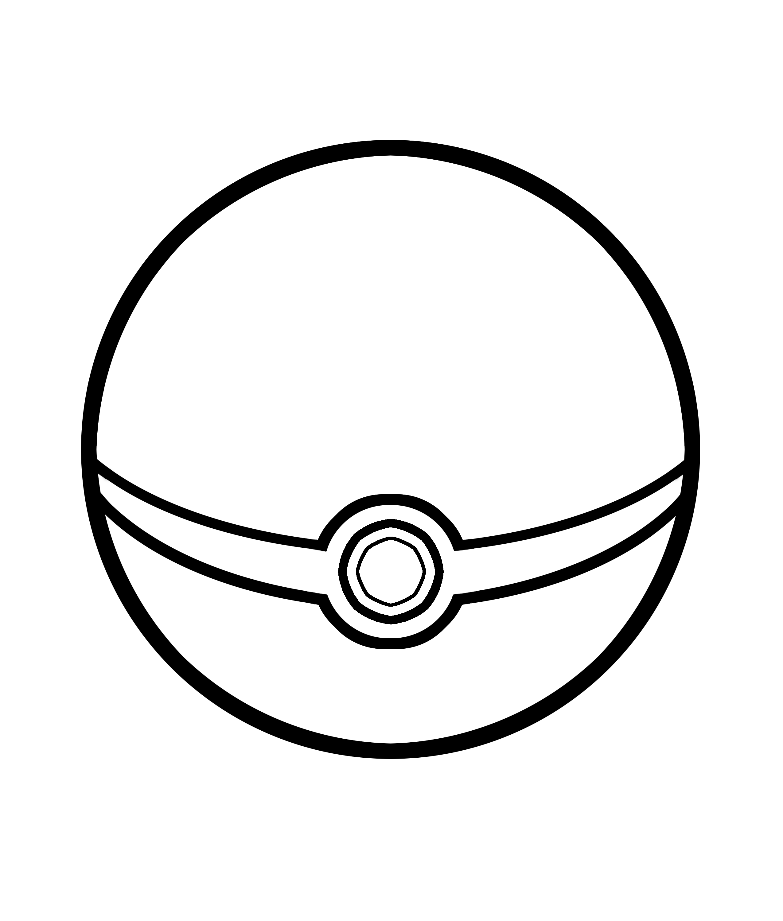 Drawn pokeball line drawing Ball Pokemon Pages Pokemon Coloring