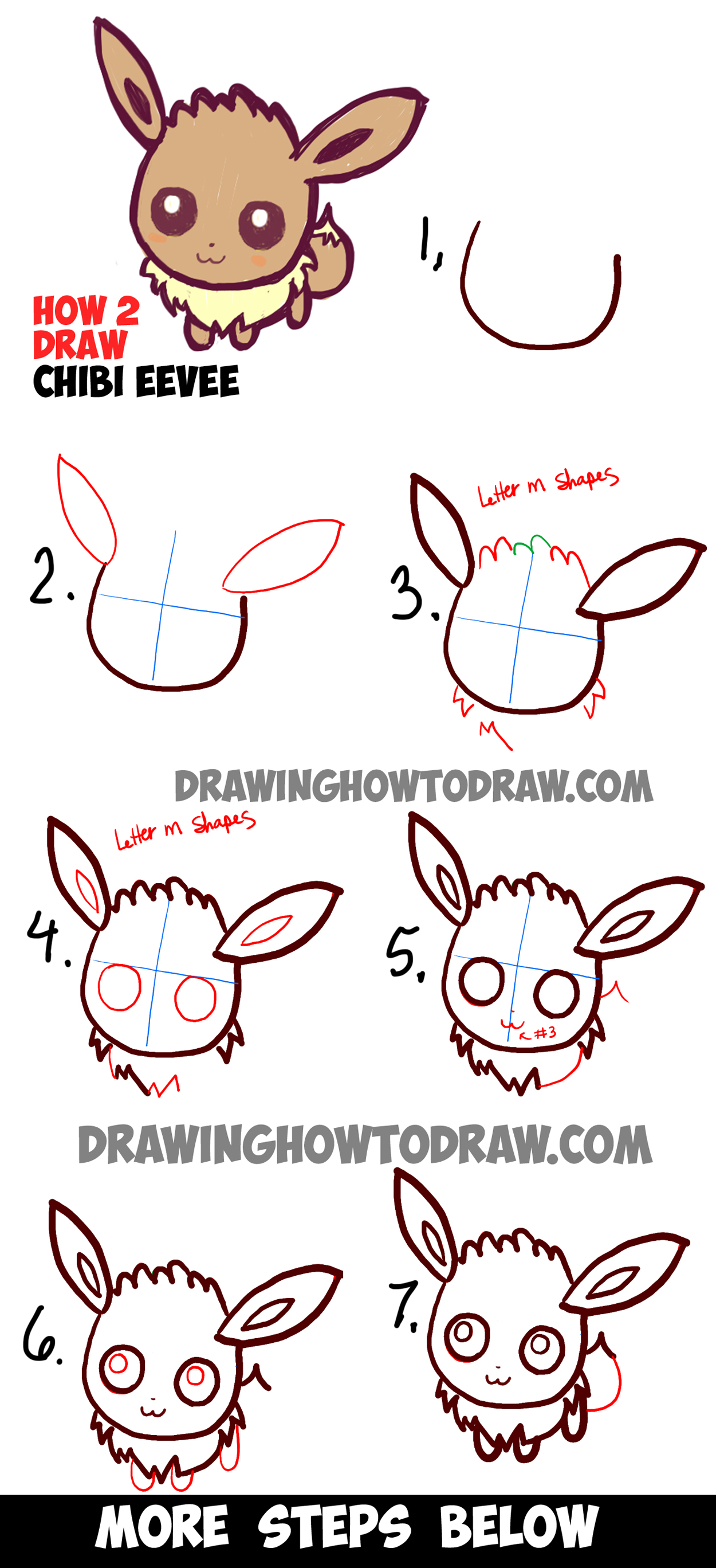 Drawn pokeball line drawing Simple Cute  from Steps