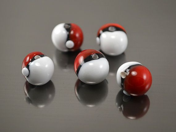 Drawn pokeball marble Go on beads Best pokeball