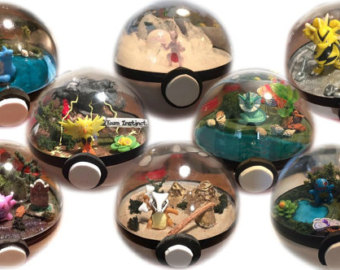 Drawn pokeball marble Pokeball Terrarium character Custom Pokeball