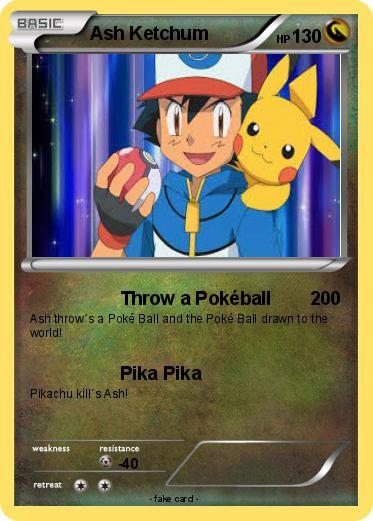 Drawn pokeball pokemon A 179 Card Ketchum 179