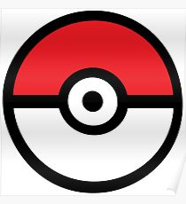 Drawn pokeball pokemon Pokeball Pokeball Posters Redbubble Poster