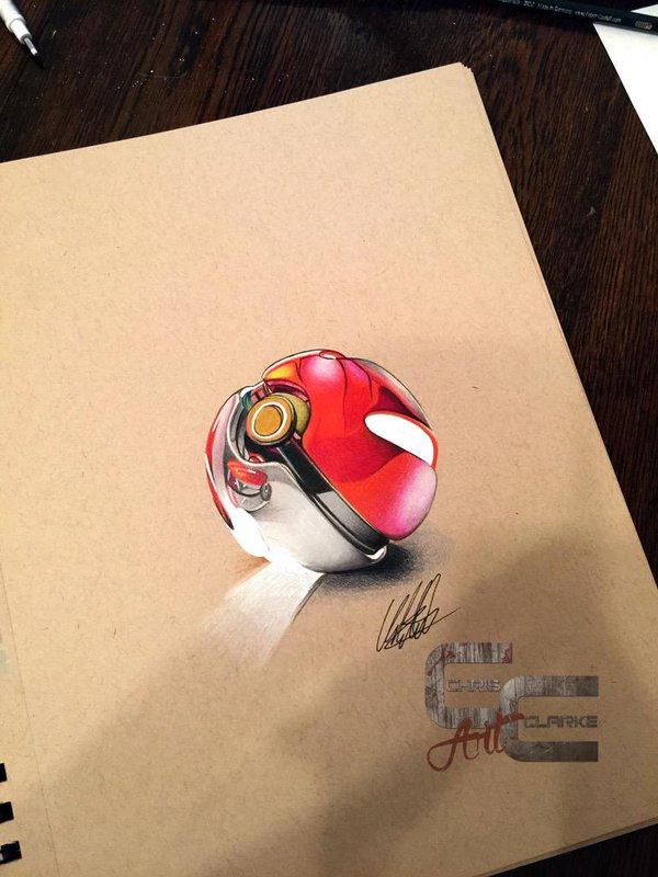 Drawn pokeball pokemon #artwork #drawing on Chris on