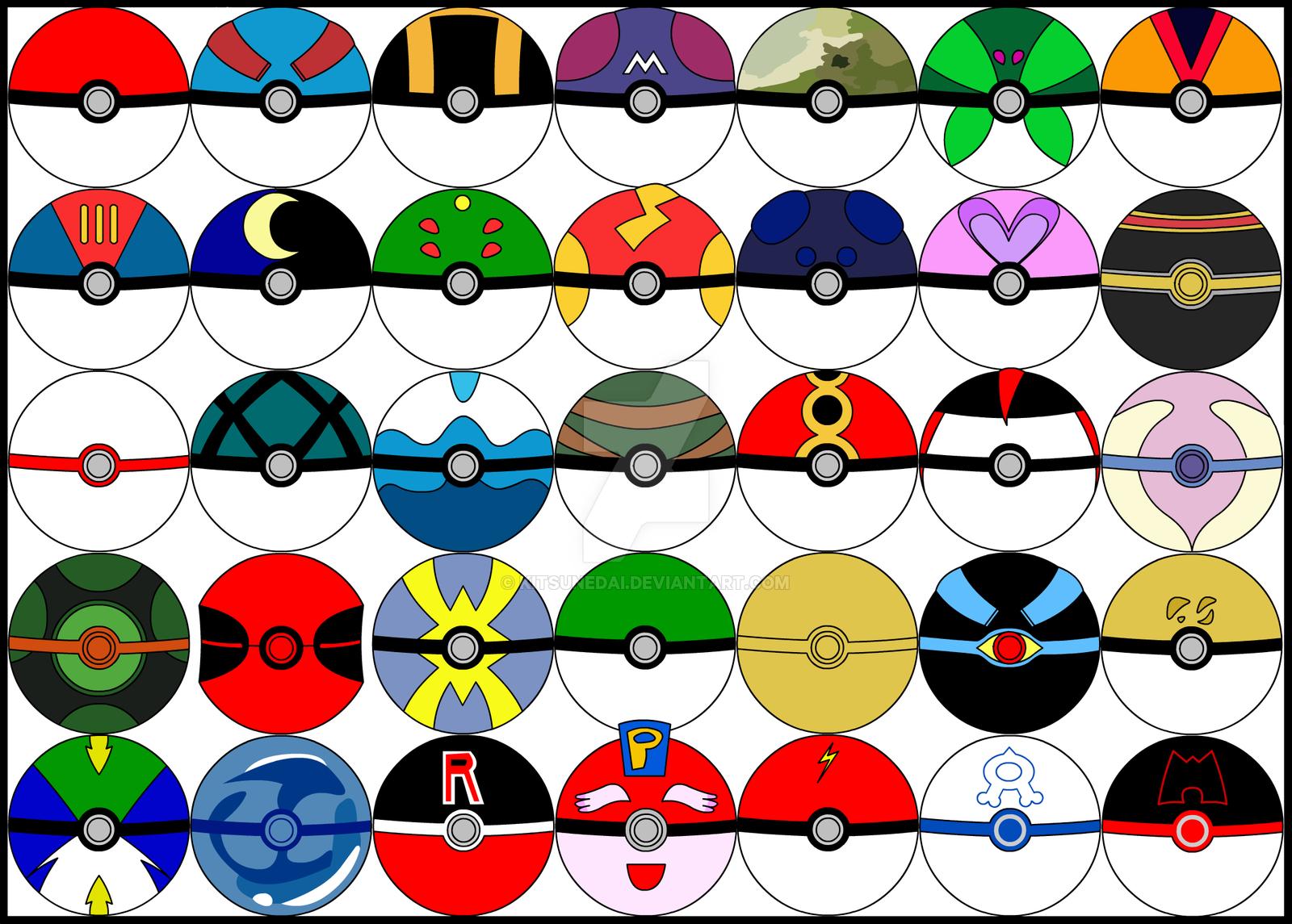 Drawn pokeball pokemon Mania Kitsunedai DeviantArt by by