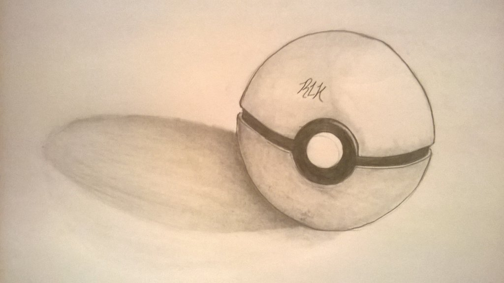 Drawn pokeball shaded By pokeball shading Rickybobby202 shading