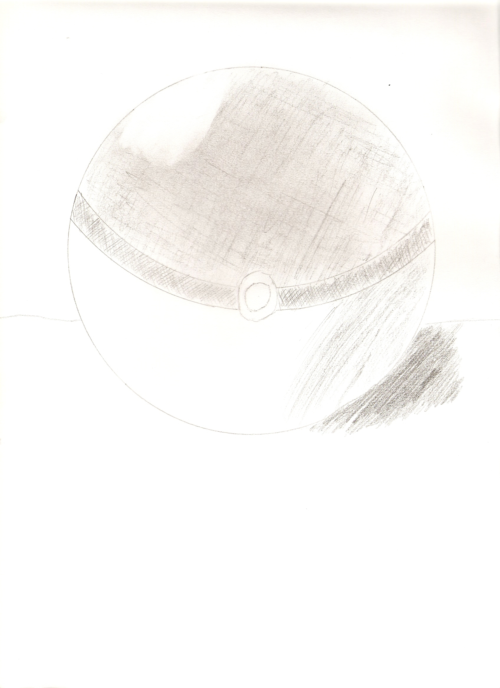 Drawn pokeball shaded By by  on Sketchbook