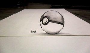 Drawn pokeball shaded Nagi on OLD 3D Somewhat