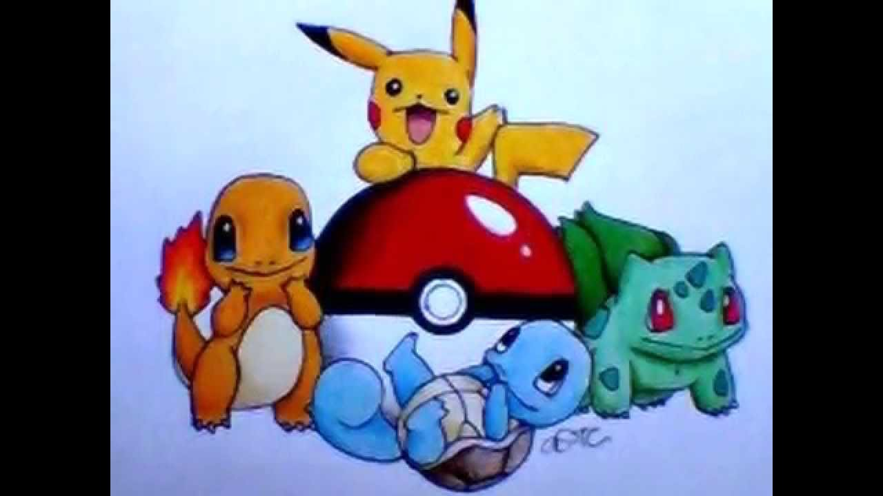 Drawn pokeball shaded Pencil Pokemon Colored Drawing Colored