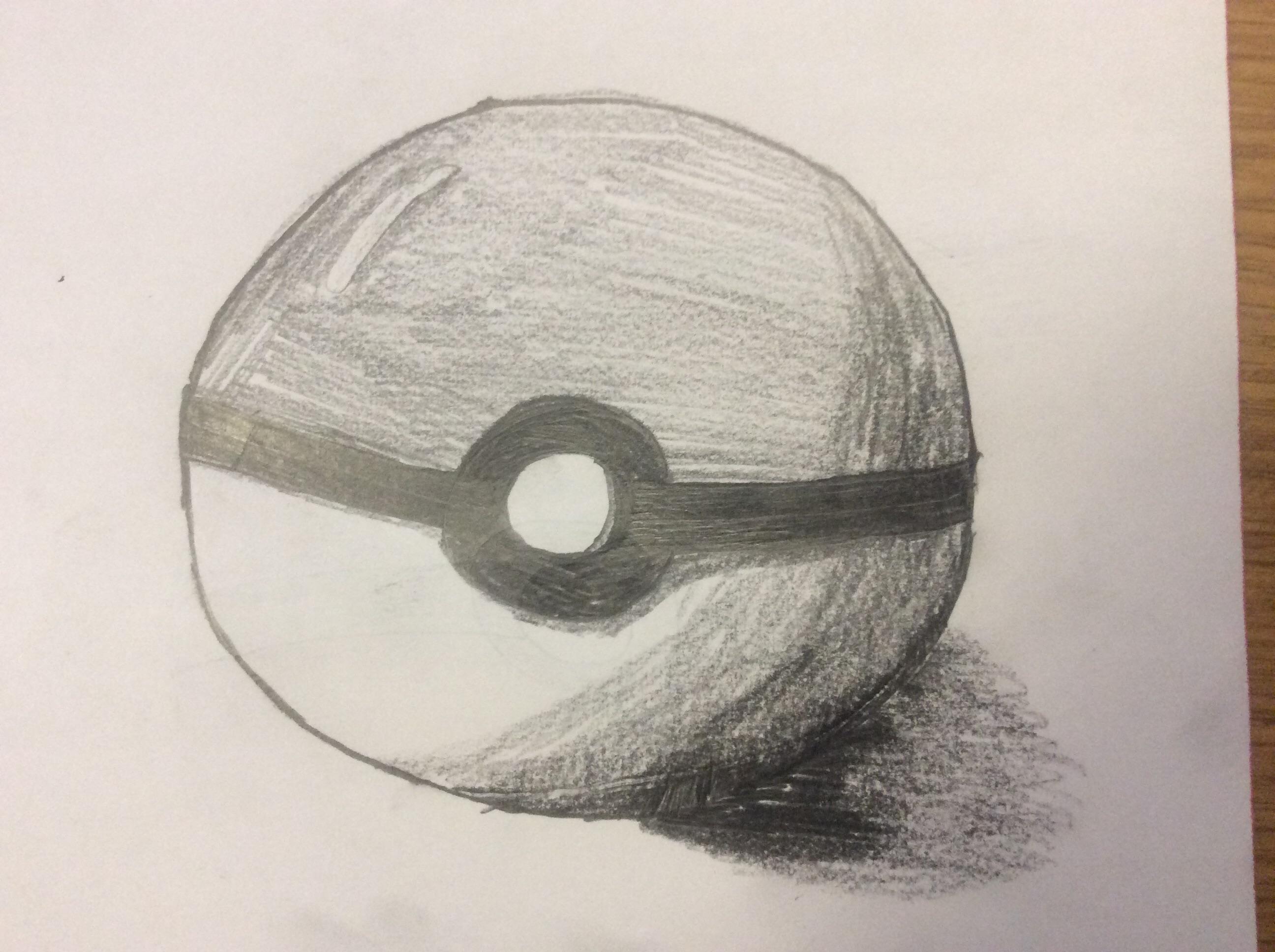 Drawn pokeball shaded : Pokeball October SketchDaily Friday