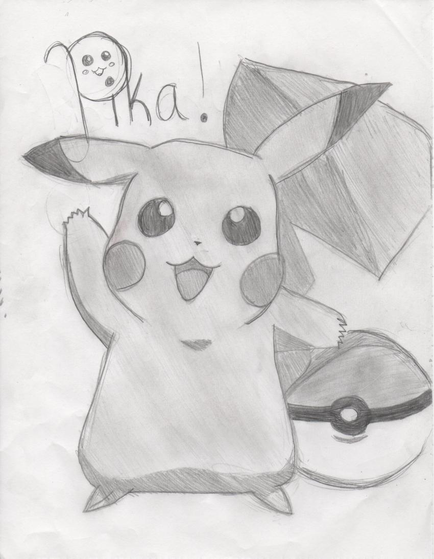 Drawn pokeball shaded Pokeball 2011 Pikachu With Drawing