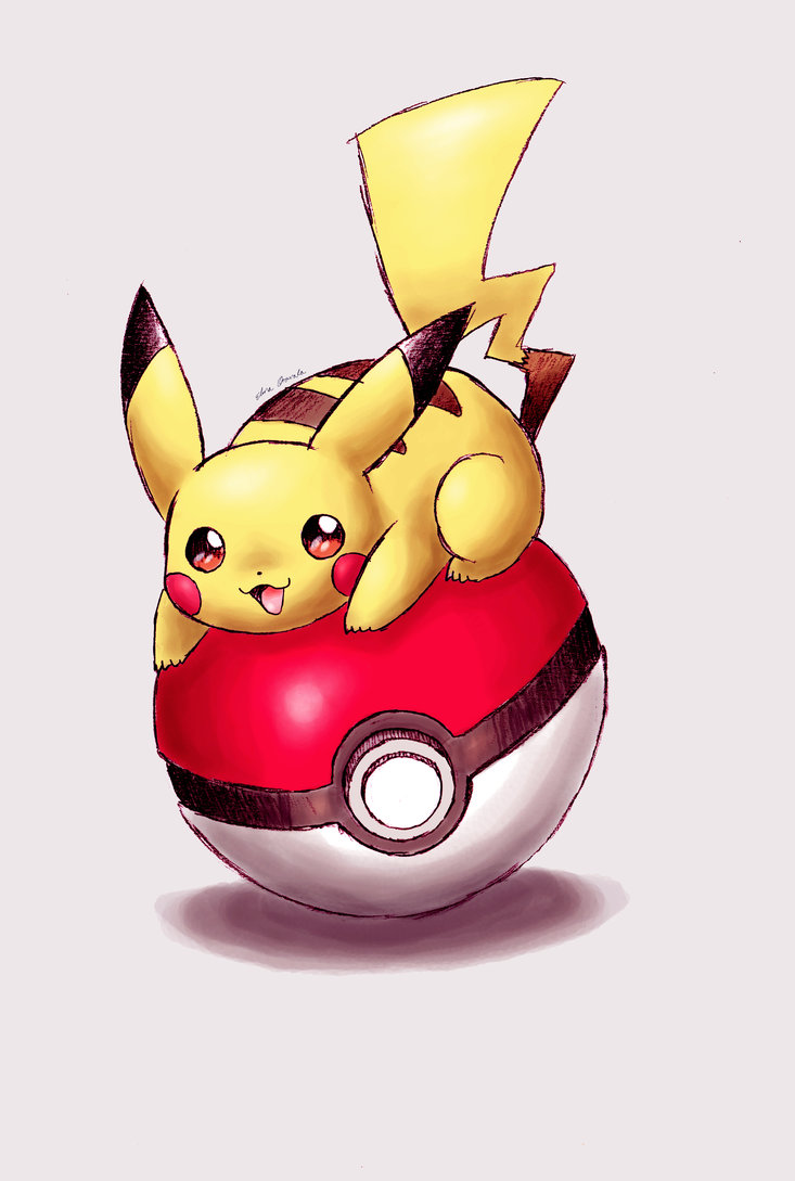 Drawn pokeball soccer goal post On things on pokeball Pikachu