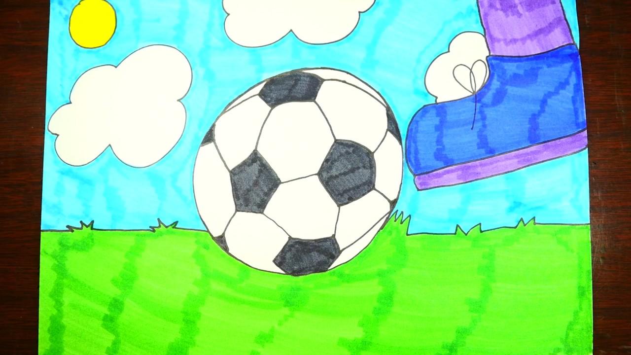 Drawn pokeball soccer goal post Kids Draw Ball Step (EASY)