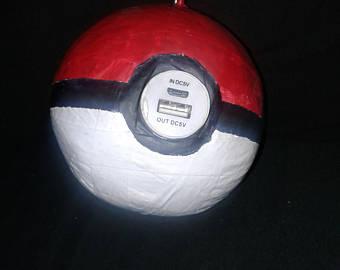 Drawn pokeball soccer shoe Phone Pokeball Etsy pokeball charger