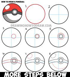 Drawn pokeball softball Easy Draw by Sports from