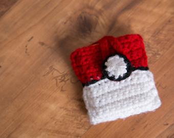 Drawn pokeball wool Case Pokemon Holder Holder Card