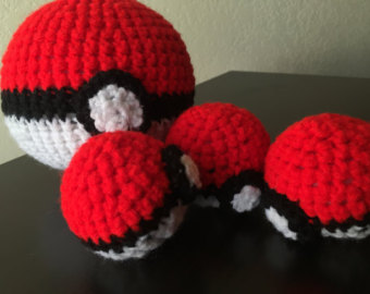 Drawn pokeball wool Love crochet great go ball