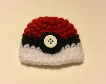 Drawn pokeball wool Elf Crochet Hat for Hat