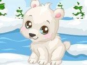 Drawn polar  bear adorable baby COM Here Care on on