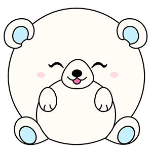 Drawn polar  bear adorable baby Designer and Baby drawing About