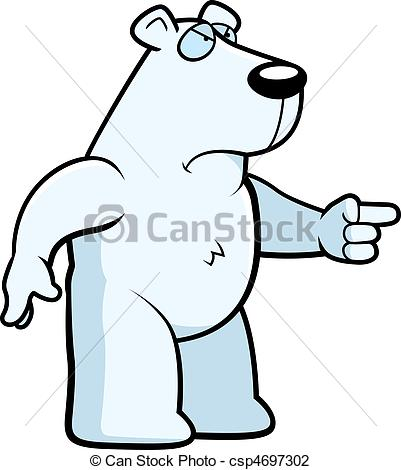 Drawn polar  bear angry Bear Polar of Bear cartoon