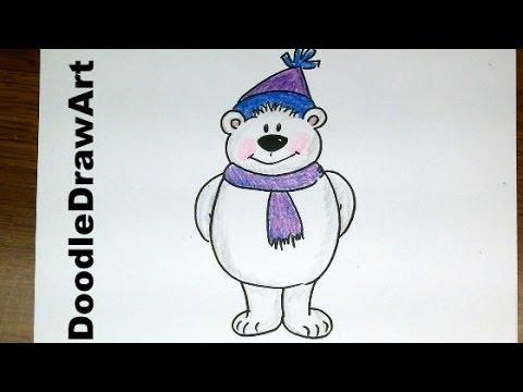 Drawn polar  bear animated #2
