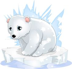 Drawn polar  bear animated #6