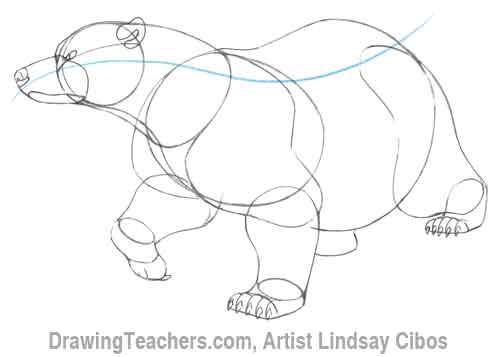 Drawn polar  bear animated #8