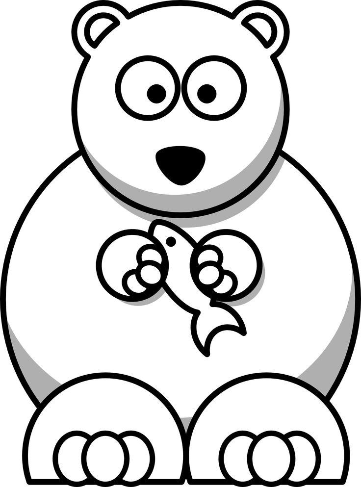Drawn polar  bear animated #4