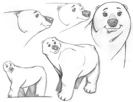 Drawn polar  bear anthro #15