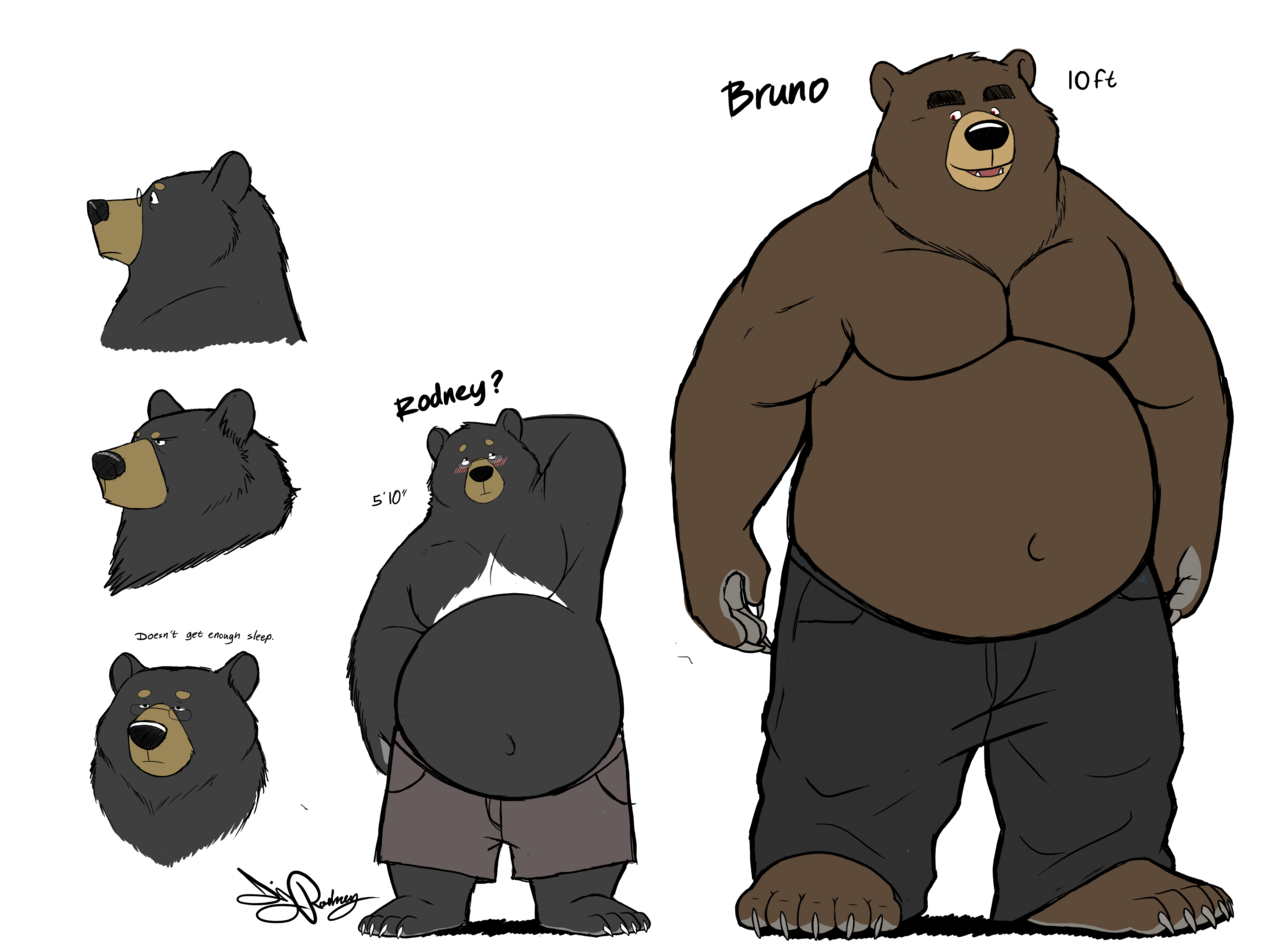 Drawn polar  bear anthro #13