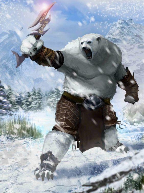 Drawn polar  bear anthro #10