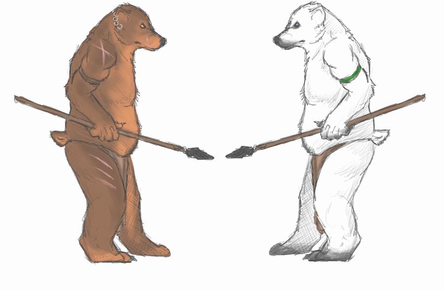 Drawn polar  bear anthro #7