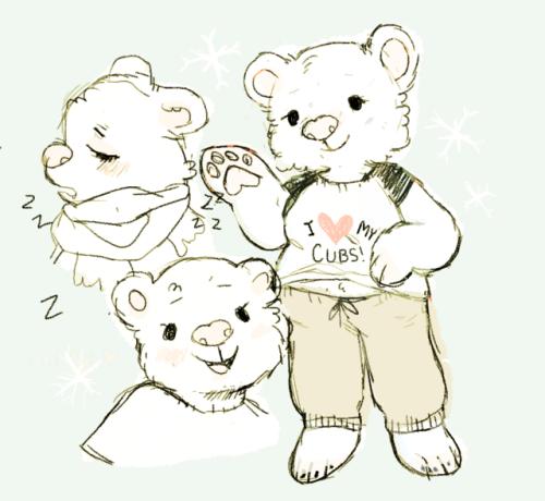 Drawn polar  bear anthro #6
