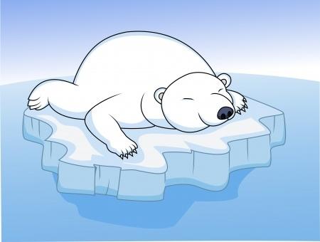 Drawn polar  bear arctic animal #11