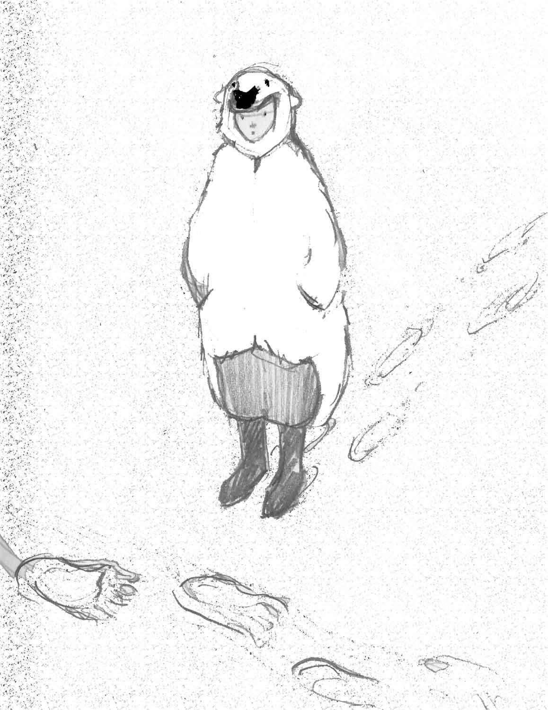 Drawn polar  bear arctic landscape Fantasy ChristineMontague and paintings com