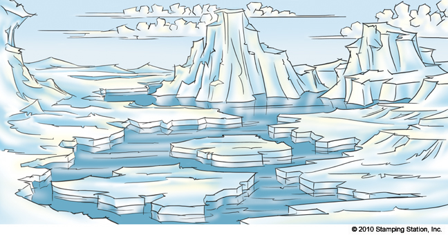 Drawn polar  bear arctic landscape Arctic Lessons Tes Teach al