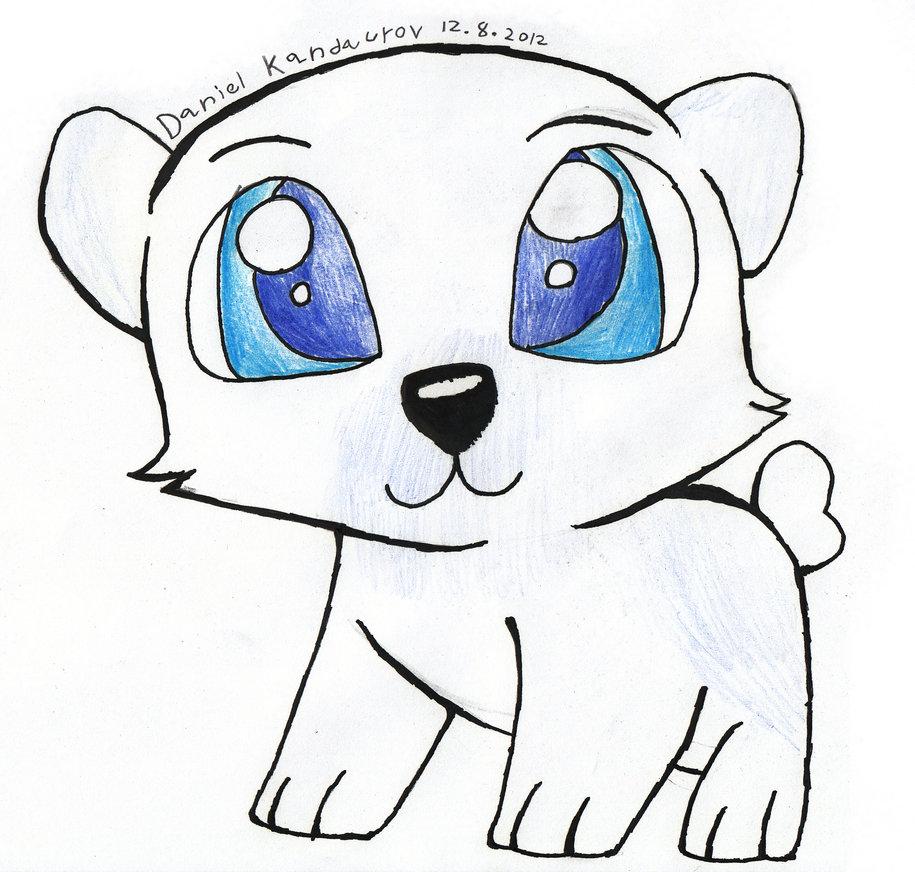 Drawn polar  bear baby animal Polar ♥ polar Bears baby