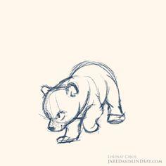 Drawn polar  bear bear cub By bear ~Hauru7 polar art