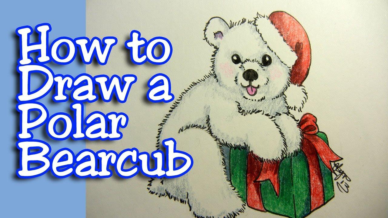 Drawn polar  bear bear cub Draw to polar YouTube How