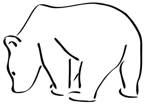 Drawn polar  bear black and white Best would on a tattoo!