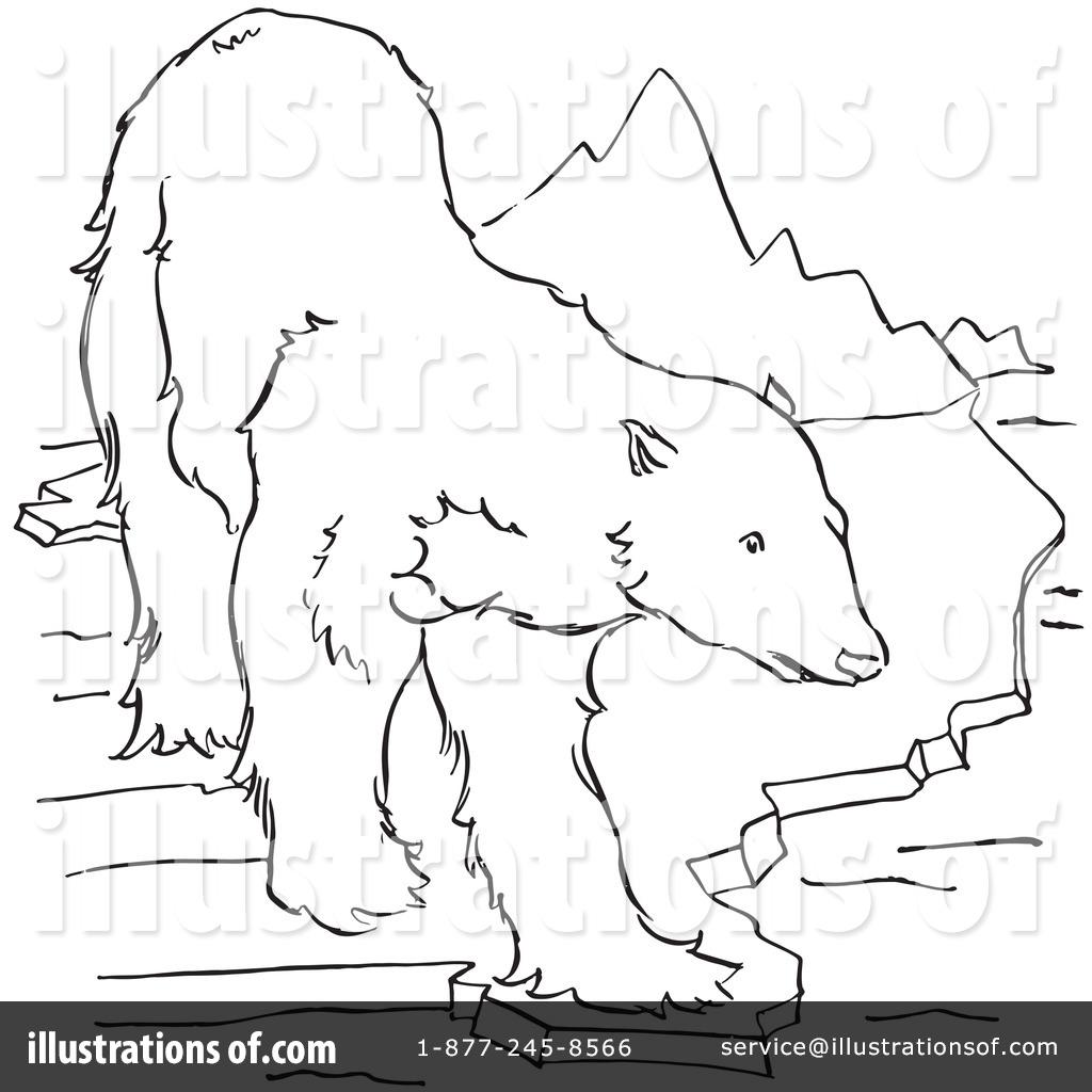 Drawn polar  bear black and white By Polar Illustration Clipart #1129277