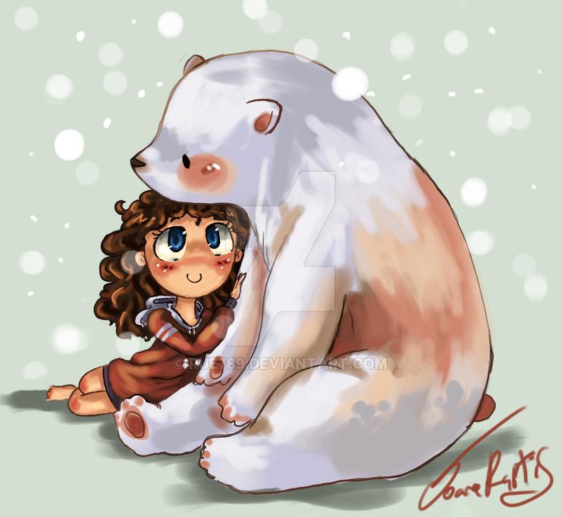 Drawn polar  bear chibi Joey by DeviantArt Chibi Bears