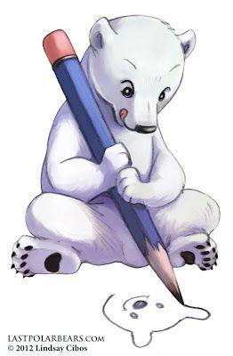 Drawn polar  bear chibi 48 Pinterest drawing Polar Polar